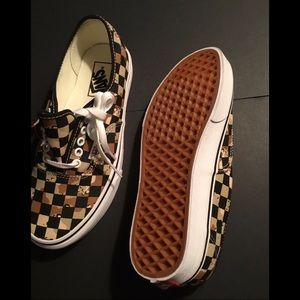 Checkered Vans Sneakers Size 8.5 (new)